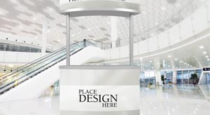 Download Free Promotion Counter Mockup Preview Image
