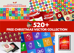 520-newest-free-christmas-vector-collection